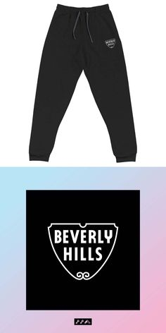 #beverlyhills #90210 #embroidered #unisex #sweats #sweatpants #joggers #losangeles #trending Beverly Hills 90210, The Beverly, Fleece Joggers, Sweatpants, Life Design, Unisex, Hats, Fitness, Cotton