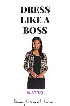Classic leopard-print cardigan from NYDJ. Perfect for the office, it definitely shows you're queen of the jungle! Turns a business casual outfit into business attire. Great work style!