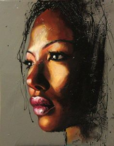 "Colin Staples LifeArt ""Face of Africa"" Acrylic on Canvas"