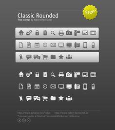 """Classic Rounded""- Free Iconset"