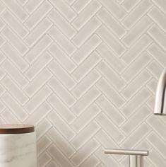 MSI Portico Herringbone x Ceramic Mosaic Tile in Pearl/Beige Herringbone Subway Tile, Chevron Tile, Herringbone Pattern, Ceramic Mosaic Tile, Marble Mosaic, Cement Tiles, Glass Tile Backsplash, Wall Tiles, Bar Tile