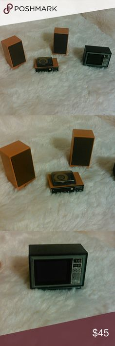 Doll furniture Stereo, speakers,tv. By Tomy Tomy Other