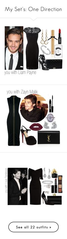 """My Set's: One Direction"" by londero-danielle ❤ liked on Polyvore featuring Victoria's Secret, Payne, Chanel, Victoria Beckham, Ippolita, Cartier, Giuseppe Zanotti, MAC Cosmetics, Christian Louboutin and Balmain"