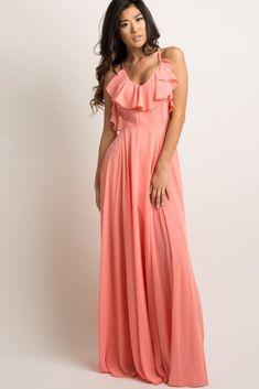 3a1c45a3fb0 Plus Size Blush Pleat   Eyelet Chiffon Maxi Dress