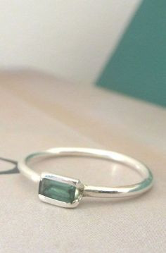 Sterling Silver Baguette Ring