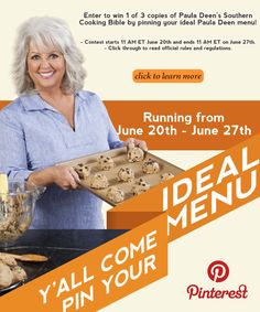 Y'all Come Pin Your Ideal Menu! Pinterest Contest