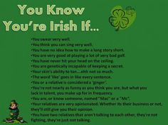 You Know You're Irish If…