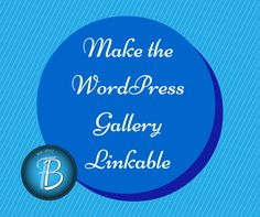 This is a work-around solution for many WordPress users who love the gallery of images option, but are frustrated that it doesn't link the images to another page or website. Here's the scenario - m...