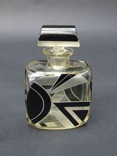 Perfume bottle ~ by Karel Palda ~ Czech Art Deco style Art Nouveau, Parfum Mademoiselle, Art Deco Glass, Beautiful Perfume, Antique Perfume Bottles, Bottle Art, Art Deco Fashion, Glass Bottles, Vases