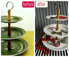 rusty fruit stand to modern jewelry display DIY