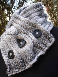 Your place to buy and sell all things handmade Neck Scarves, Yarn Colors, Neck Warmer, Cable Knit, Hand Knitting, Winter Hats, Crochet Hats, Wool, Grey