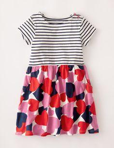 Jerseykleid mit Mustermix #bodenmini