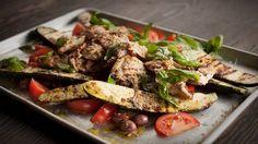 Recettes - Signé M - TVA - Hauts de cuisse à la grecque et courgettes grillées
