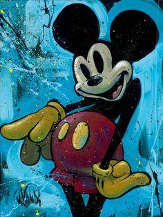"""Street Mouse"" by David Garibaldi | Disney Fine Art | Disney's Mickey Mouse"