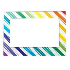 Rainbow Magnet Frame.  Look for matching Decor that go with this design in my store.  Designs by DonnaSiggy. (Donna Siegrist)  #frames #photo #magnetic #decor  #pinoftheday #zazzle #gifts #trendy www.zazzle.com/designsbydonnasiggy?rf=238713599140281212