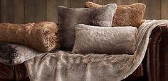 Luxe Faux Fur pillows - Restoration Hardware