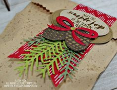 Tea and Stamps: DOStamper STARs Thursday Challenge #257 - Christmas Pines Treat Bag