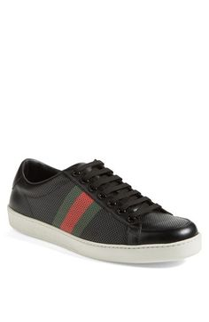 1111356b76596 Gucci  Brooklyn  Perforated Sneaker (Men) available at  Nordstrom Gucci  Mens Sneakers
