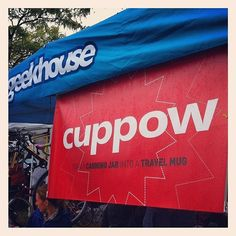 @geekhousebikes rep'n the @cuppow banner at #gpg. #necx #tentlife #ghcx  (Taken with Instagram at Gran Prix Of Gloucester)
