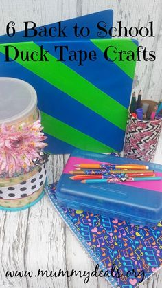 6 Back to School Duck Tape Crafts from Mummy Deals