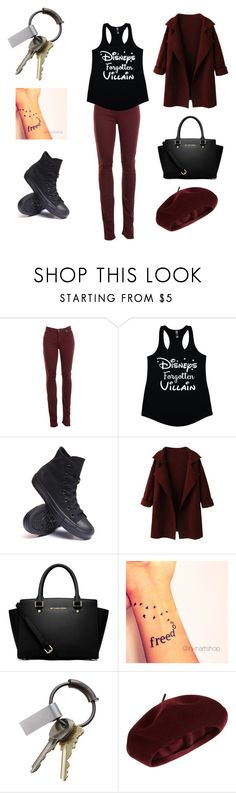 """""""Disney forgotten villain"""" by alicia-brockett ❤ liked on Polyvore featuring Helmut Lang, Converse, MICHAEL Michael Kors, CB2 and Accessorize"""