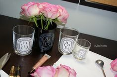 Home Accents with Recycled Diptyque Candle Jars