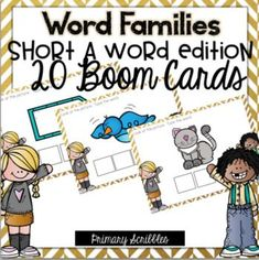 Are you 1:1? Are you looking for a fun way to practice the skill of short a word families in your classroom? This online and interactive activity is perfect for the digital classroom. In this product, you get a link to a website. This activity contains 20 questions relating to the topic of short a word families. Please check out the preview above to view four of the deck cards.
