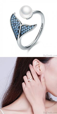 Scroll Design Carats Created Blue Sapphire Round Cut Stud Earrings in Sterling Silver – Fine Jewelry & Collectibles Women Accessories, Fashion Accessories, Jewelry Accessories, Chrome Hearts Ring, Ladies Silver Rings, Feather Ring, Thumb Rings, Cute Rings, Handmade Rings