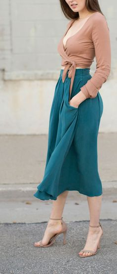 Kieley Kimmel Turquoise Swing Skirt