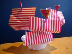 Toy boats. We're making these in Children's Church tomorrow, to go with the Bible story about Jesus calming the storm.