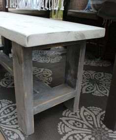 Build it - Farmhouse Bench - easy DIY instructions included at RefreshRestyle.com