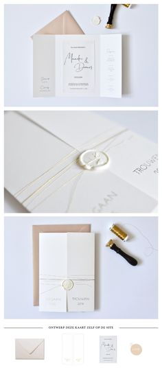 Chique trouwkaart met goudfolie op prachtig papier Wedding Cards, Our Wedding, Dream Wedding, Invitation Cards, Wedding Invitations, Save The Date, Getting Married, Henna, Wedding Inspiration