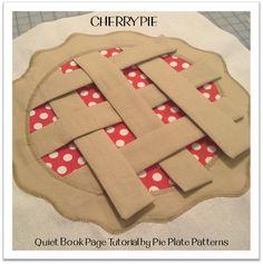 Cherry Pie weaving quiet book page