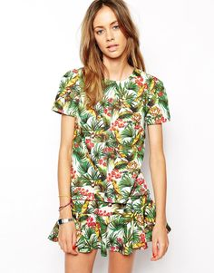 The Fifth Second Chance Skirt in Tropical Print