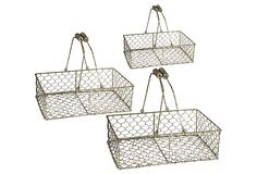 Wire Milk Baskets, Asst. of 3 on OneKingsLane.com