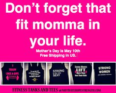 MotivateHopeSTrength.com FREE SHIPPING IN US.  Order now for Mother's Day.  #mother'sday  #mom #Mother's #Fitnessgift #crossfit #Momworkout #workout #workoutgifts #inspiration #likeagirl #strength #quotes #gifts for mom #fitness mom #exercise #squats #butt exercise #women's health #women's fitness #train #body build #bikini #new mom