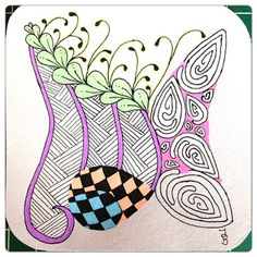 PaperyGoods: Zentangle me Crazy! Challenge #136