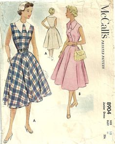 Vintage Fifties Sewing Pattern from McCalls by studioGpatterns, $8.50