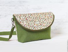 Купить маленькая сумочка Яблонька - зеленый, небольшая сумочка, женская сумка, летняя сумка