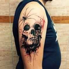 Skull graphic tattoo