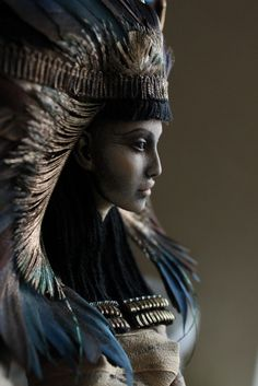 Nephthys by Sisters Katya and Lena Popovy. Nephtyhys sister of Isis, consort(wife) of brother Set. Helped Isis nurture Horus.