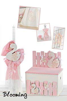 Βαπτιση Κυκνος - Blooming Swan, Flamingo, Decorative Boxes, Bloom, Baby Shower, Party, Flamingo Bird, Babyshower, Swans
