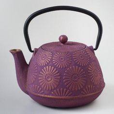 Our Plum Flower Cast Iron Teapot is crafted with iconic plum blossoms, the Japanese symbol for beauty, strength and willpower. It is one of the only flowers that can withstand the harsh winter to bloom again in the spring. With a bamboo handle, durable cast iron construction and a stainless steel infuser basket, this teapot is ideal for brewing, serving and enjoying your favorite loose-leaf teas.
