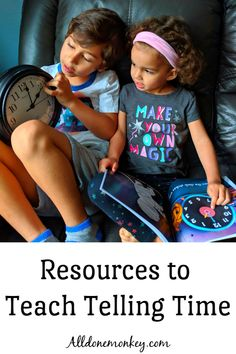 Telling Time: Resources for Parents and Educators - All Done Monkey Telling Time Games, Telling Time Activities, Math Activities For Kids, Educational Activities, Teaching Kids, Kids Learning, Early Learning, Learn To Tell Time, Homeschool Math