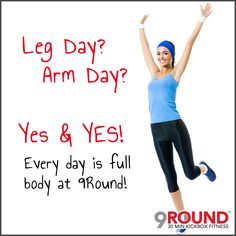 """For those of you who thought today was """"Hump Day""""...You thought wrong!   Today, just like everyday at 9Round, is FULL BODY DAY!  So if you're running low on energy or you feel yourself dragging especially since you're well into the work week, head into 9Round and get revamped!   Trust us, working out may not seem like the most appealing alternative for the workday woes, but it's one of the most important elements in achieving a happy, healthy life!  #humpday #getoverit #9round #legday…"""