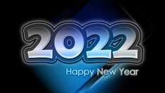 Free Black and Blue New Year Background 2022