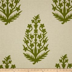 Bella Large Tree Green- replacement option for green and white fabric.  I would really like to see a sample of this in person before you were to order it.  This is only going around the edge of two of your pillows on the sofa as piping so it's not as critical.  Would you want for me to order a sample before you order this?  Cleo could start on your drapes first and by the time she's ready for the pillows, we'll have that fabric...what do you think?