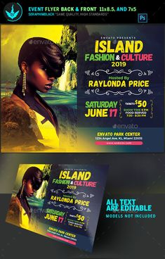 Island Fashion Flyer Template — Photoshop PSD #modeling #Gospel Concert • Available here → https://graphicriver.net/item/island-fashion-flyer-template/19326786?ref=pxcr