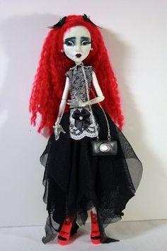 Madeline OOAK Monster High Spectra Goth Custom Repaint Art Doll Atlanta BJD Con | eBay