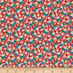 Designed by Erin Turner for Penny Rose, this cotton print is perfect for quilting, apparel and home decor accents.  Colors include red, off white, green and blue.